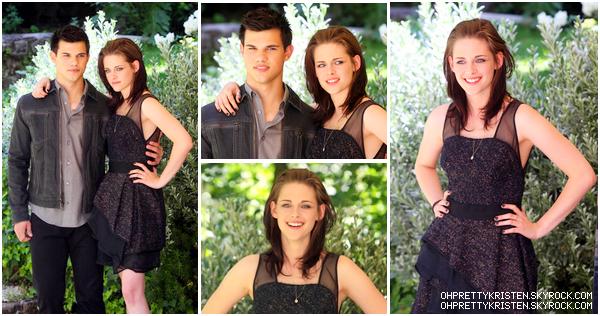 . Kristen et Taylor faisant la promo d'Eclipse à Rome ce 17juin. Comment les trouvez-vous ? Kristen est ravissante dans sa belle robe ! .