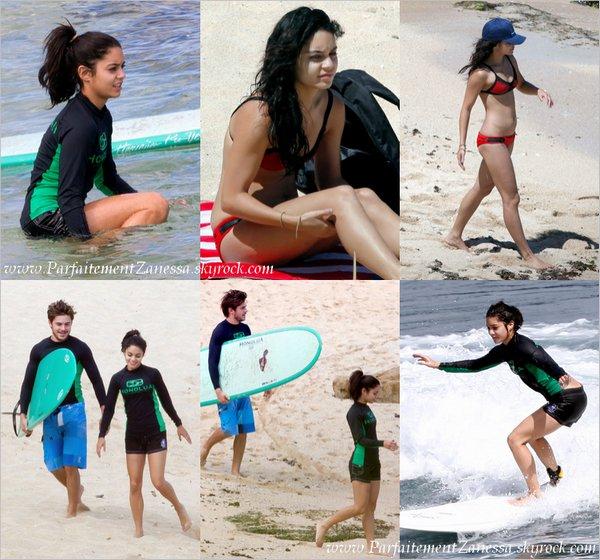 22.08.2010 // Ils sont actuellement en vacances en amoureux à Hawaii . Le couple a été vu faisant du surf Je n' avais encore jamais vu Vanessa surfé x)