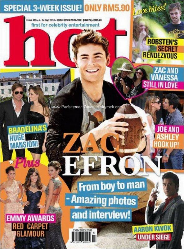 2010 // Zac Efron fait la couverture du magazine « Wonderland » pour le numéro septembre / octobre Vous aimez ?