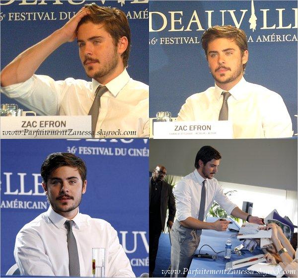 11.09.2010 // Zac à première de son film Charlie St Cloud à Deauville en France ( Voir vidéo ? ) Il a toujours cet barbe ! :S