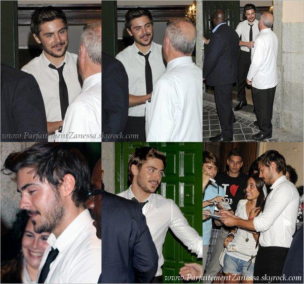 13.09.2010 // Zac Efron a réalisé un Photocall pour son prochain film à l' Hôtel Zurbano de Madrid  Vous le trouvez comment ?