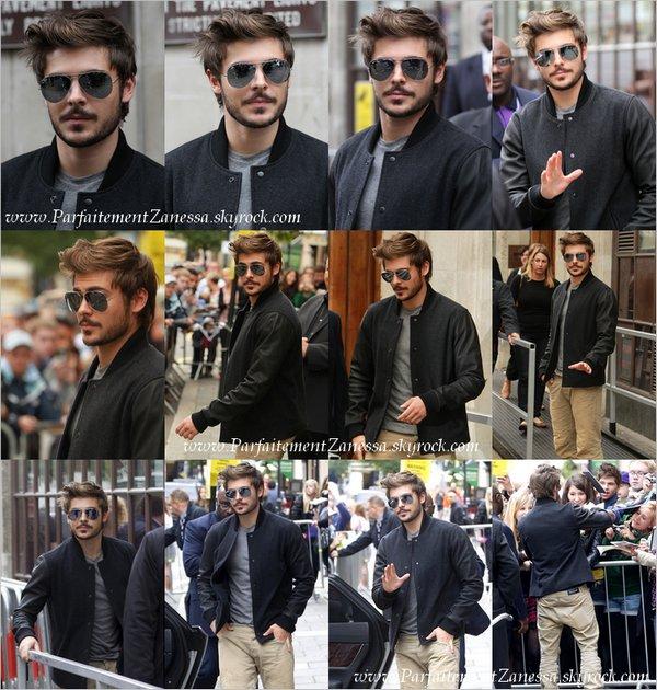16.09.2010 // Zac a été vu arrivant et quittant les studios de la radio BBC 1 à Londres Il est trop beau ! ♥ & J' aime sa tenue ! :D