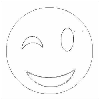 Coloriage du smiley clin d 39 oeil coloriages - Oeil a colorier ...