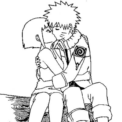 Coloriage De Naruto Et Sa Copine Coloriages