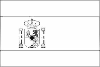 Coloriage du drapeau de l 39 espagne coloriages - Drapeau espagnol a colorier ...