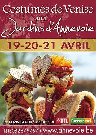Le Carnaval de Venise aux jardins d'Annevoie