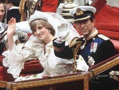 Diana & Charles dans le carrosse