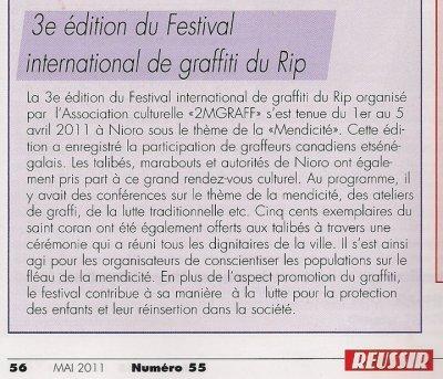 Festival international de graffiti au senegal 2011