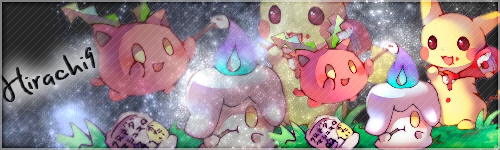 Bannière Granivol,Funécire et Pikachu