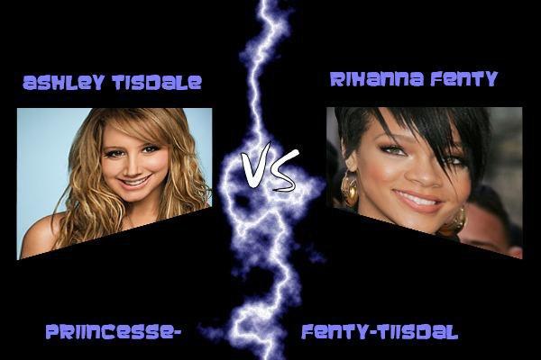 Ashley Tisdale VS Rihanna Fenty !!