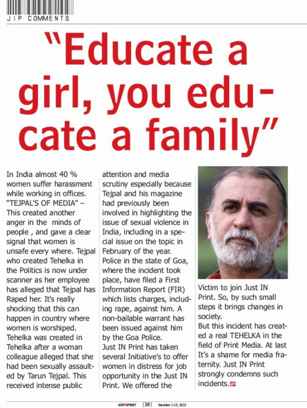 """Educate a girl, you educate a family"""