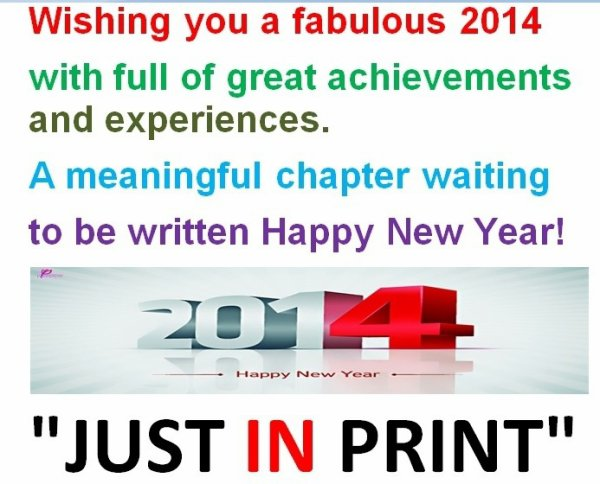 WISHING YOU A VERY HAPPY AND PROSPEROUS NEW YEAR 2014