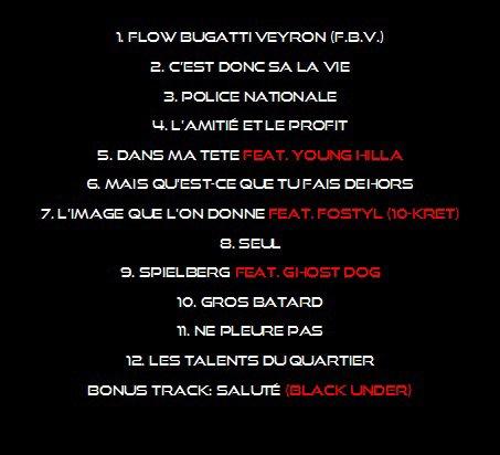 """Tracklist """"Le Debut De Leur Fin"""""""