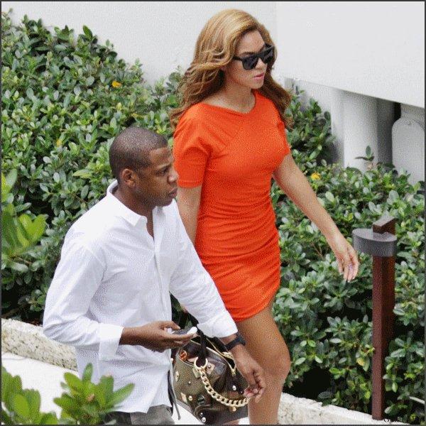 Beyoncé et Jay-Z à Miami (20/10).