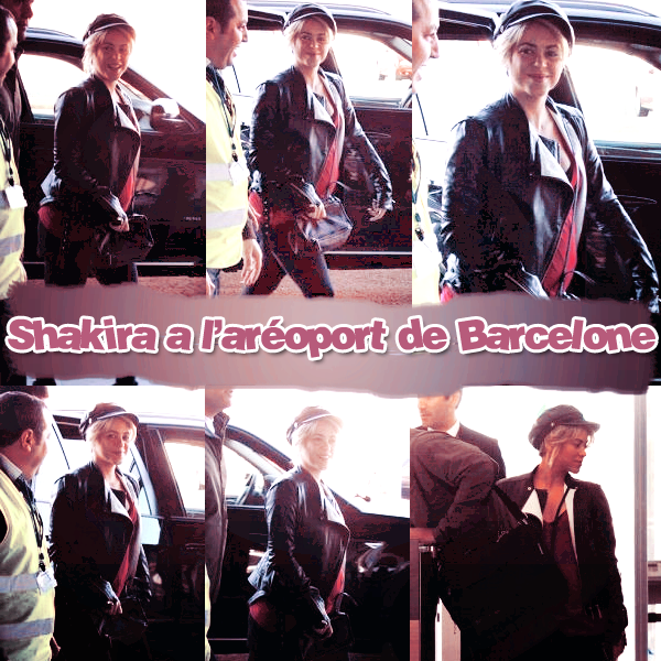 Shakira a été aperçue à l'aéroport de Barcelone le 28 octobre dernier alors qu'elle se dirigeait en salle d'embarquement pour Los Angeles. Je précise qu'On voit un peu sont gros vente  ( désoler de la mauvaise qualité des photo )