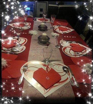 Deco table pour la st valentin 2015 mon p 39 tit resto - Deco chambre saint valentin ...