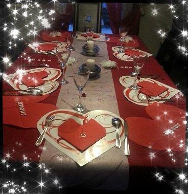 Deco table pour la st valentin 2015 mon p 39 tit resto for Deco saint valentin