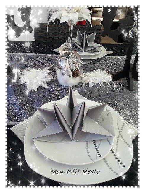 PLIAGE SERVIETTE TABLE REVEILLON 2015 / 2016