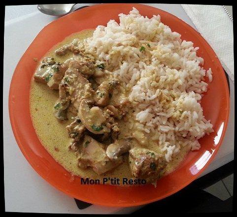 CUISSE DE DINDE MARINEE AU CURRY