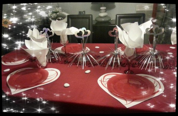 DECORATION TABLE ST VALENTIN 2017