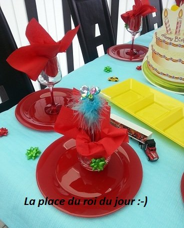 DECORATION TABLE ANNIVERSAIRE SAMUEL / 4 ANS / MAI 2017