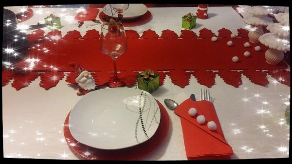 DECO DE TABLE .... NOEL 2017