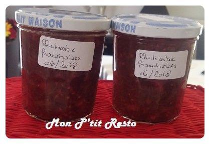 CONFITURE MAISON ... RHUBARBE + FRAMBOISES ... saveur vergeoise