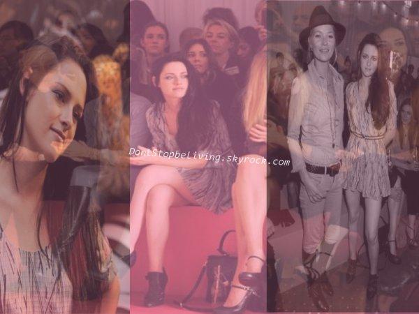 """18 septembre 2011-Quelle bonne surprise de retrouver la Stew' au défilé """"Mulberry"""" avec Kate Moss."""