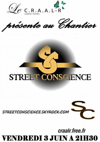 Vendredi 3 Juin  STREET CONSCIENCE