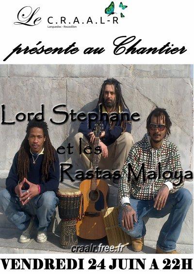 Vendredi 24 Juin  Un Jour en Noir & Lord Stephane et les Rastas Maloya