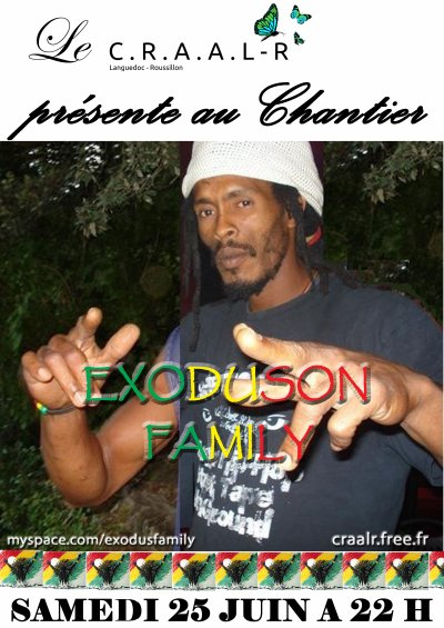 Samedi 25 Juin  RAS RACHIDI YOMBA & EXODUSON FAMILY
