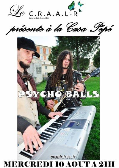 Mercredi 10 Aout - PSYCHO BALLS