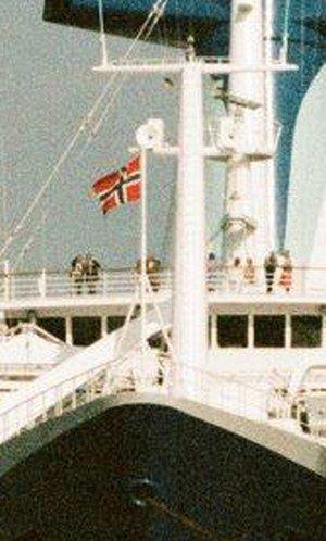 Drapeau provenant du s/s NORWAY de la norvège