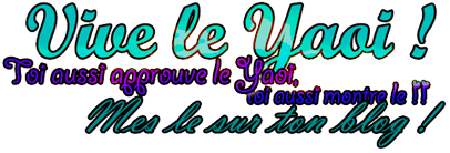 Bienvenu fans de Yaoi ^^