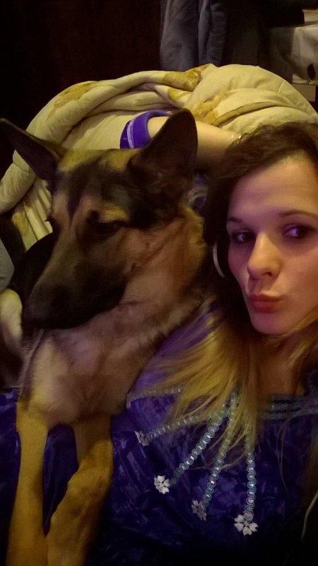 Moi avec mon chien ?