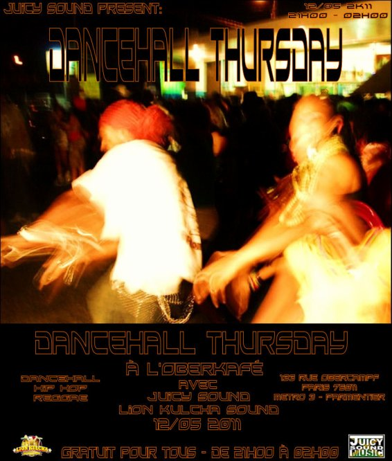 12/05 Dancehall Thursday @ Oberkafé Paris