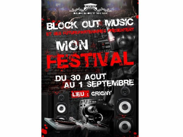 mon festive blockout music  grigny