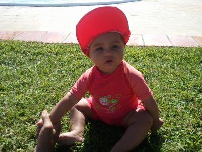 Cynthiana a la piscine