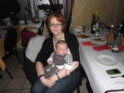 Louis et sa marraine Nora