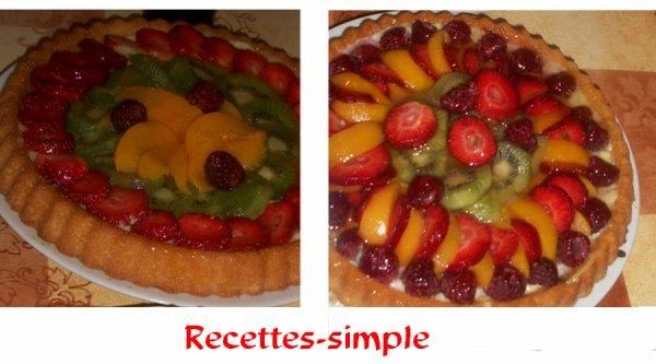 Tarte à la vanille et aux fruits