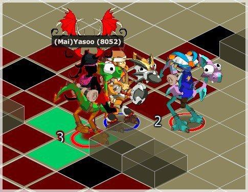 [20:31]  : (Map) [Maimane B] vs. [Kuri D] : Félicitations à Maimane qui remporte le combat en 8 tours et deux survivants ! (Mage)