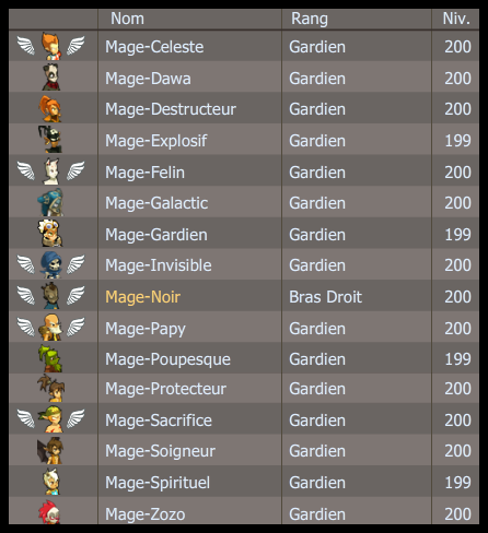 1 Mage, 16 Mages. (Mage)