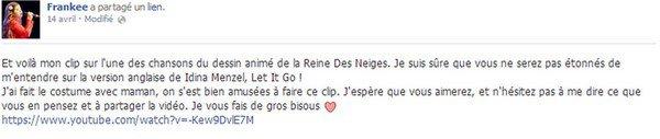 Let it go (La reine des neiges) - Frankee