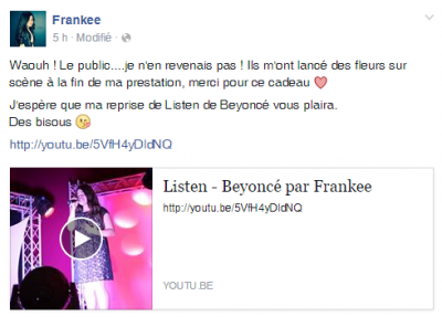 Listen (Live) cover by Frankee (14 y.o)