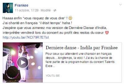Dernière Danse (Live) cover by Frankee (14 y.o)