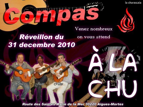 Soirée à la churascaia avec le groupe Compas pour le réveillon du 31 décembre 2010