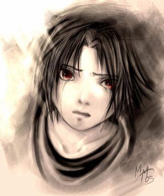 sasuke pleure