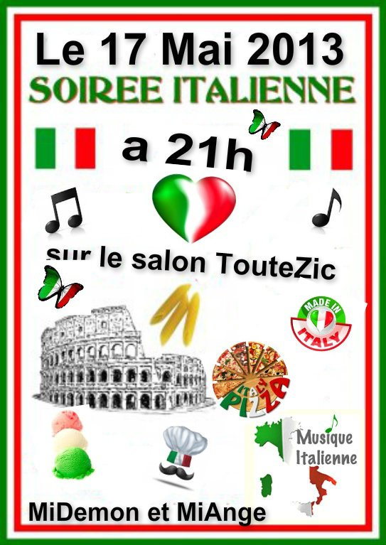 Soirée italienne le 17 mai