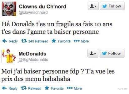 le clown dans le game...
