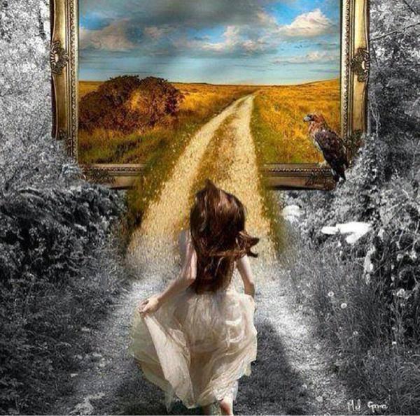 """Clin d'oeil à mon @mie """" Le sentier du voyageur """"... ♡"""